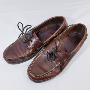 LL bean Brown leather loafers men's size 11D